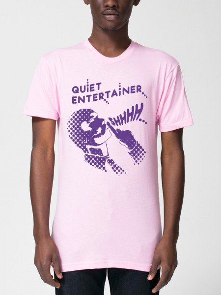quiet entertainer yacht club pink tshirt