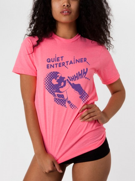 quiet entertainer yacht club pink shirt