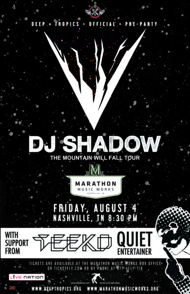 DJ Shadow Nashville Marathon Music Works Teeko Quiet Entertainer